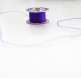 Blue Thread Royalty Free Stock Photography