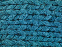 Blue thread macro Royalty Free Stock Image