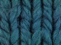 Blue thread macro Royalty Free Stock Photography