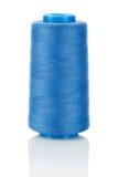 Blue Thread On Bobbin Stock Photo