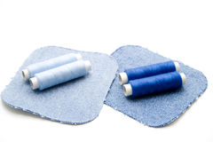 Blue thread rolls Stock Image