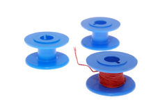 Blue Thread Spools Royalty Free Stock Photo