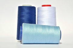 Blue threads Stock Photography