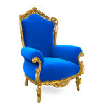 Blue Throne Chair Isolated Royalty Free Stock Image