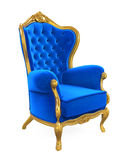 Blue Throne Chair Isolated Stock Photography