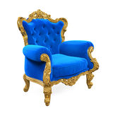 Blue Throne Chair Isolated Royalty Free Stock Photography
