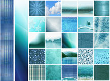 Blue thumbnails & banners royalty free stock image