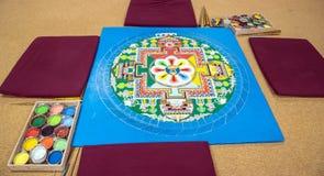 Blue tibetan mandala
