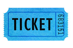 Blue ticket Royalty Free Stock Images