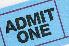 Blue Ticket Macro Royalty Free Stock Photos