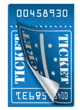 Blue ticket to be torn Royalty Free Stock Images