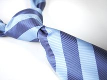 Blue tie 1. Blue tie knot isolated, with clipping path Royalty Free Stock Photos