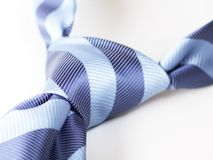 Blue tie 2. Blue tie knot isolated, with clipping path Royalty Free Stock Images
