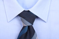 Blue tie with blue shirt Stock Photo