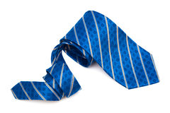 Blue tie close up Royalty Free Stock Image