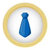 Blue tie colorful icon Royalty Free Stock Images