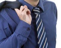 Blue tie Stock Photography