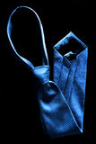 Blue Tie for Dressing Up Stock Photos