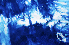 Blue Tie dyed fabric Royalty Free Stock Photo