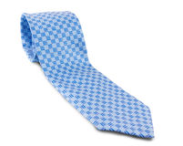 Blue tie isolated Stock Photography
