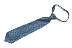 Blue tie with a knot Stock Image
