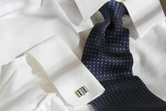 Blue tie and shirt Stock Images