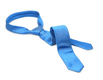 Blue tie taken off Stock Images