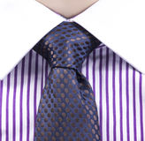 Blue tie and violet shirt Stock Photography
