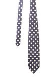 Blue tie with white polka Stock Image