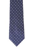 Blue tie with white speck. Stock Images