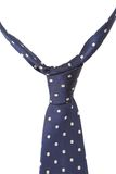 Blue tie with white speck. Stock Image