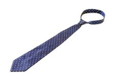 Blue tie with white speck. Royalty Free Stock Images
