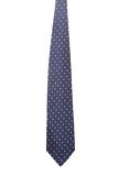 Blue tie with white speck. Royalty Free Stock Photography