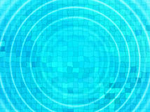 Blue tile background with concentric water ripples Stock Photo