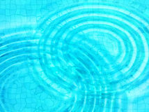 Blue tile background with concentric water ripples Stock Image