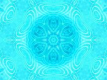 Blue tile background with concentric water ripples pattern Stock Photo