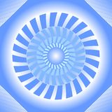Blue tile with circle absteract shape in op-art style with 3d illusion Royalty Free Stock Photos