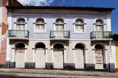 Blue Tile Facade Sao Luis Maranhao Brazil Stock Photo