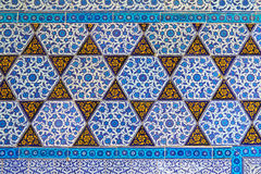 Blue Tile. Handmade Traditional Turkish Blue Tile Wall Stock Images