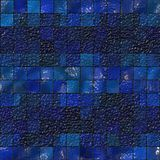 Blue tile mosaic Royalty Free Stock Photography