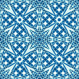 Blue tile mosaic background Stock Images