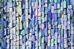 Blue Tile Mosaic texture Royalty Free Stock Photo