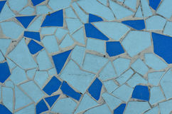 Blue tile mosaic texture Royalty Free Stock Images
