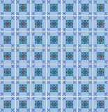 Blue Tile Pattern Royalty Free Stock Photo