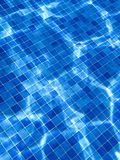 Blue tile pattern in swimming pool Stock Photography