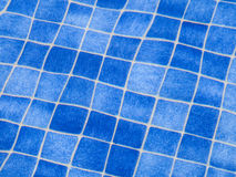 Blue tile pattern in swimming pool Royalty Free Stock Images