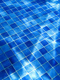 Blue tile pattern in swimming pool Royalty Free Stock Photos
