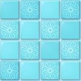 Blue tile pattern Stock Photography