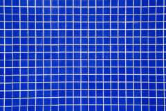 Blue tile for pool Royalty Free Stock Photography