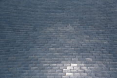 Blue tile roof background. Blue curve tile roof background Royalty Free Stock Photos